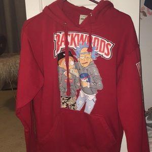 Red Rick & Morty Backwoods Sweatshirt